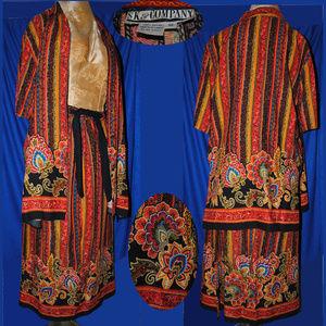 Vintage SK & Co. 100% Rayon Skirt & Top Set Sz 10